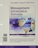 Management Information Systems: Managing the Digital Firm; Student Value Edition  2015 edition cover