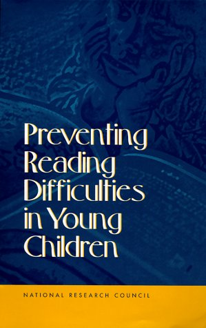 Preventing Reading Difficulties in Young Children   1998 edition cover