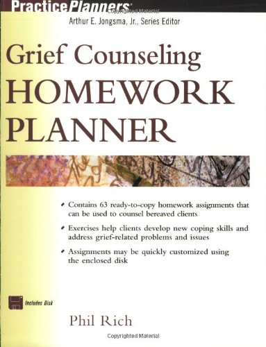 Grief Counseling Homework Planner   2001 edition cover