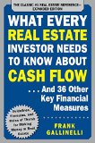 What Every Real Estate Investor Needs to Know About Cash Flow: And 36 Other Key Financial Measures  2015 9781259586187 Front Cover