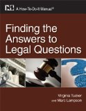 Finding the Answers to Legal Questions A How-To-Do-It Manual  2010 edition cover