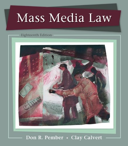 Mass Media Law  18th 2013 edition cover