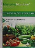 MasteringNutrition with MyDietAnalysis with Pearson EText -- Standalone Access Card -- for Nutrition and You  3rd 2015 edition cover