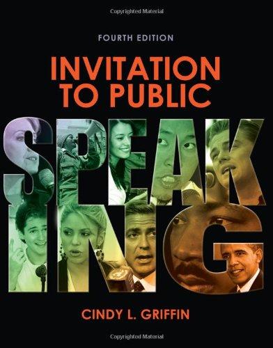 Invitation to Public Speaking  4th 2012 edition cover