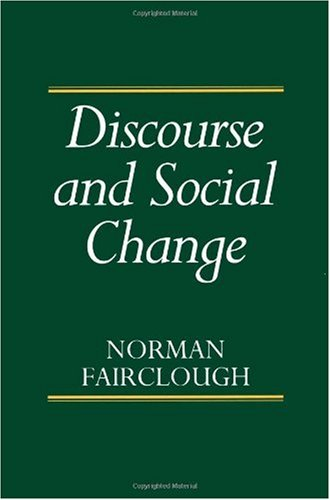 Discourse and Social Change   1993 edition cover