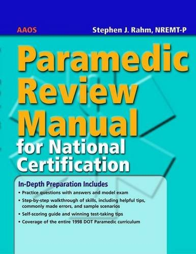 Paramedic Review Manual for National Certification   2006 edition cover