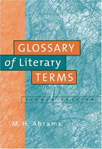 Glossary of Literary Terms  8th 2005 edition cover