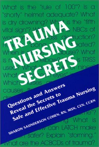 Trauma Nursing Secrets   2003 9781560535188 Front Cover