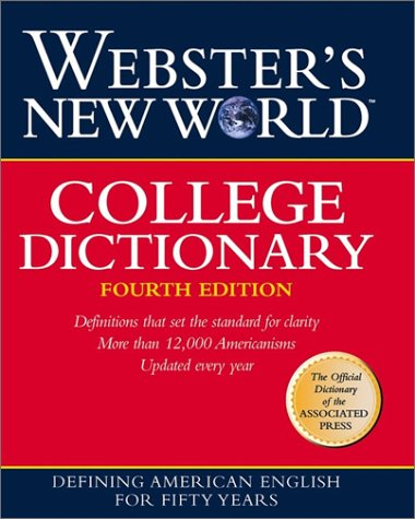College Dictionary  4th 2009 edition cover
