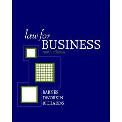 Law for Business 9th 9th 2006 edition cover