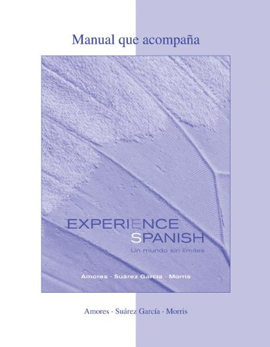 WBLM to Accompany Experience Spanish   2012 edition cover