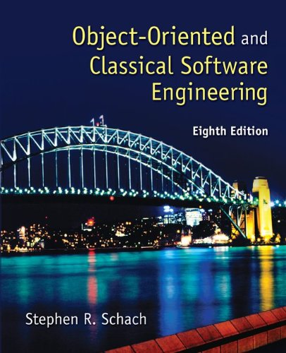 Object-Oriented and Classical Software Engineering  8th 2011 edition cover