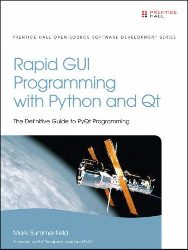 Rapid GUI Programming with Python and Qt The Definitive Guide to Pyqt Programming  2008 edition cover
