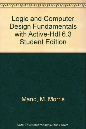 Logic and Computer Design Fundamentals  4th 2008 (Student Manual, Study Guide, etc.) 9780136004189 Front Cover