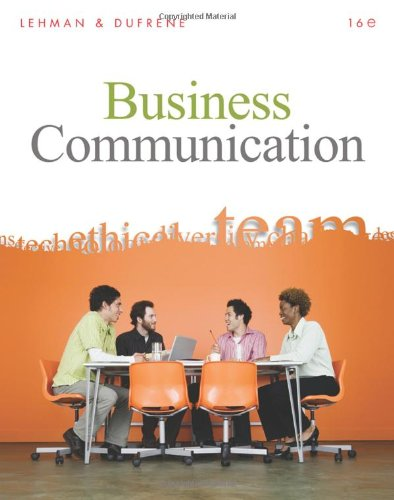 Business Communication (Book Only)  16th 2011 edition cover