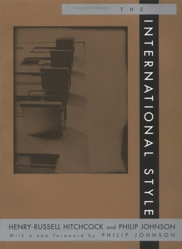 International Style   1932 (Reprint) 9780393315189 Front Cover