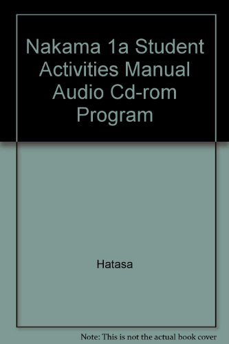Nakama 1a Student Activities Manual Audio Cd-rom Program:  2nd 2008 9780618966189 Front Cover