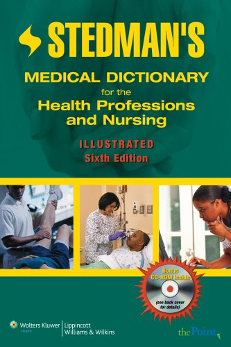 Stedman's Medical Dictionary for the Health Professions and Nursing  6th 2007 (Revised) 9780781776189 Front Cover