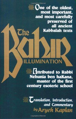 Sefer Ha-Bahir  Reprint 9780877286189 Front Cover
