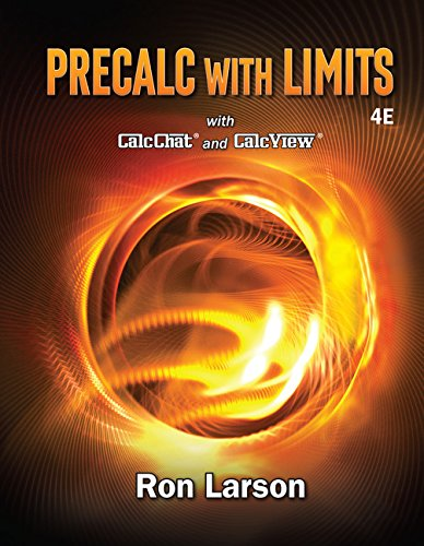 Precalculus With Limits:   2017 9781337271189 Front Cover