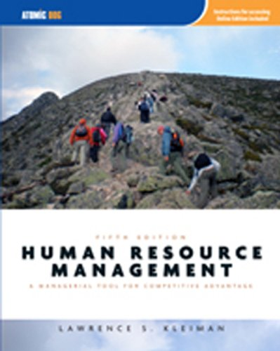 Human Resource Management Managerial Tool for Competitive Advantage 5th 2010 edition cover