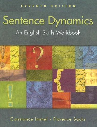 Sentence Dynamics An English Skills Workbook 7th 2008 edition cover