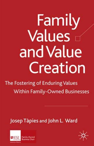 Family Values and Value Creation The Fostering of Enduring Values Within Family-Owned Businesses  2008 9780230212190 Front Cover