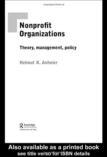Nonprofit Organizations Theory, Management, Policy  2005 edition cover