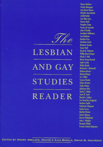 Lesbian and Gay Studies Reader   1993 edition cover