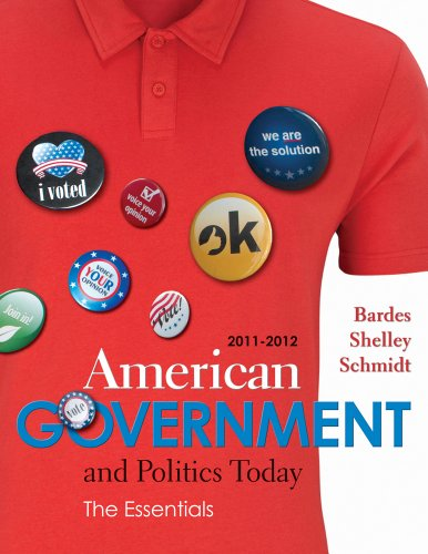 American Government and Politics Today 2011-2012  16th 2012 9780538497190 Front Cover