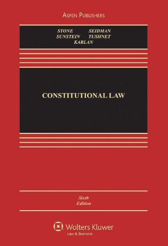 Constitutional Law, Sixth Edition  6th 2009 (Revised) edition cover