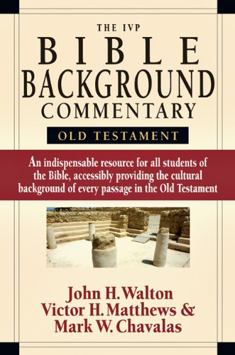 IVP Bible Background Commentary Old Testament  2000 edition cover