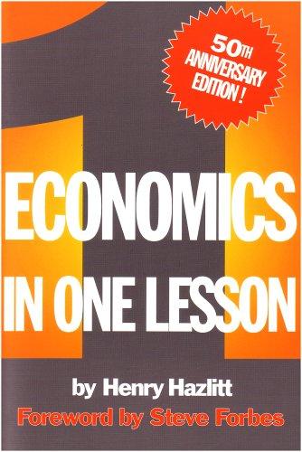 Economics in One Lesson 1st (Reprint) edition cover