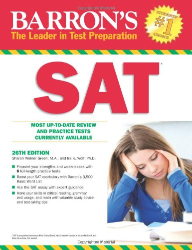 Barron's SAT  3rd 2012 (Revised) edition cover