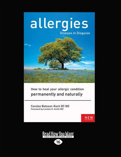 Allergies, Disease in Disguise  0 edition cover