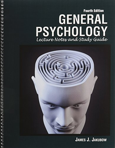 General Psychology Lecture Notes and Study Guide 4th (Revised) edition cover
