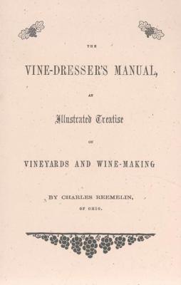Vine-Dresser's Manual  N/A 9781557095190 Front Cover