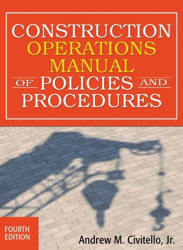 Construction Operations Manual of Policies and Procedures  4th 2008 (Revised) edition cover