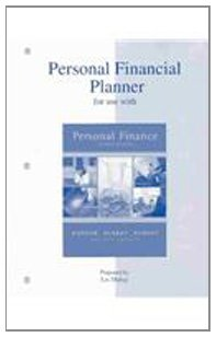 Personal Financial Planner to accompany Personal Finance  7th 2004 9780072534191 Front Cover