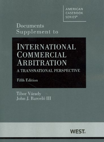 International Commercial Arbitration, a Transnational Perspective  5th 2012 (Revised) edition cover