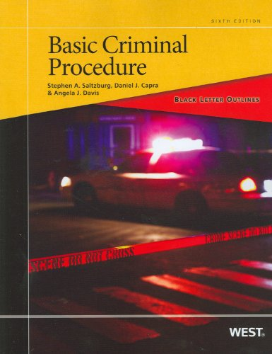 Black Letter Outline on Basic Criminal Procedure  6th 2012 (Revised) edition cover