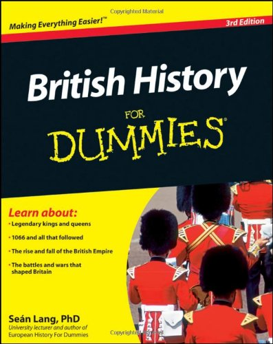 British History for Dummies  3rd 2010 edition cover