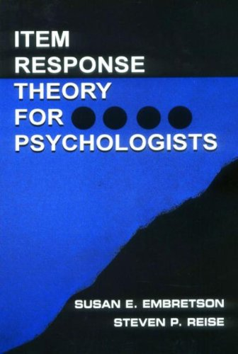 Psychometric Methods Item Response Theory for Psychologists  2000 edition cover