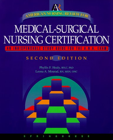 American Nursing Review for Medical-Surgical Nursing Certification 2nd 1998 edition cover