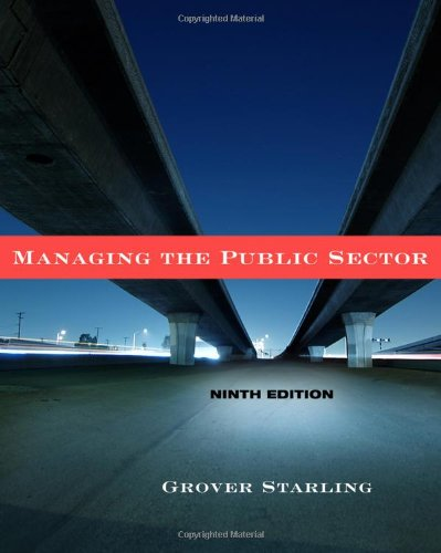 Managing the Public Sector  9th 2011 edition cover