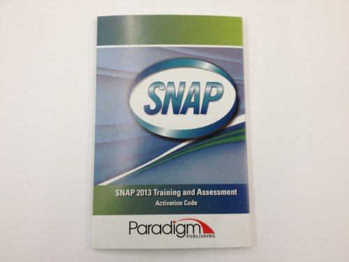 SNAP 2013 TRAINING+ASSESSMENT- N/A 9780763855192 Front Cover