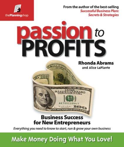 Passion to Profits Business for New Entrepreneurs N/A edition cover