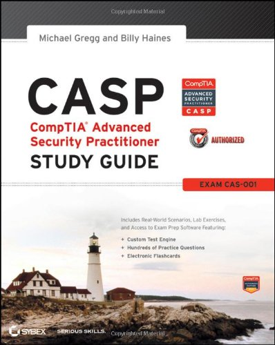 CASP CompTIA�  Advanced Security Practitioner Study Guide  2012 edition cover