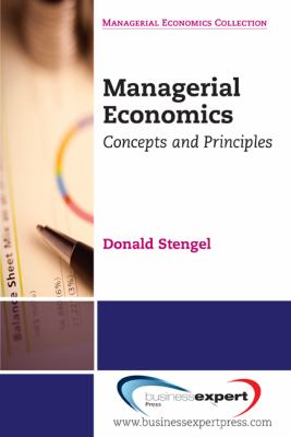 Managerial Economics Concepts and Principles N/A edition cover