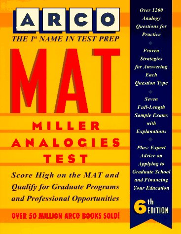 MAT, Miller Analogies Test 6th 9780028603193 Front Cover